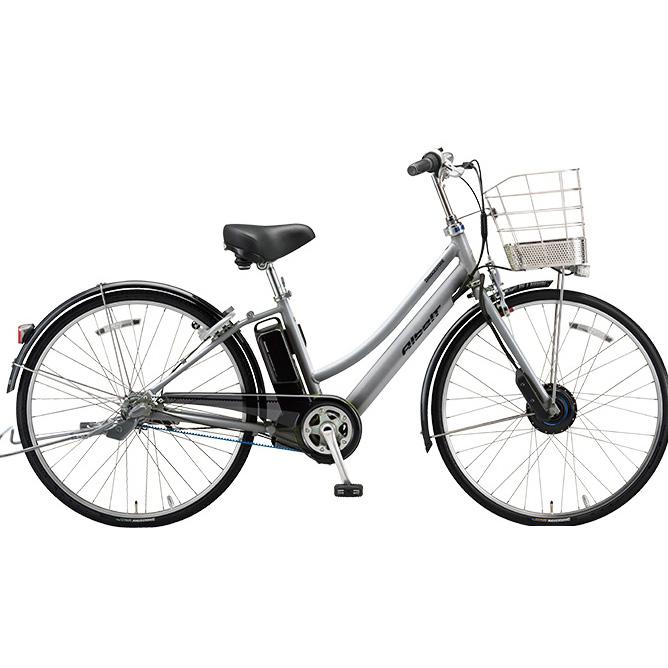 ブリヂストン アルベルト e L型 AL6B48 M.スパークルシルバー 26インチ 電動自転車【2018年モデル】【完全組立済自転車】