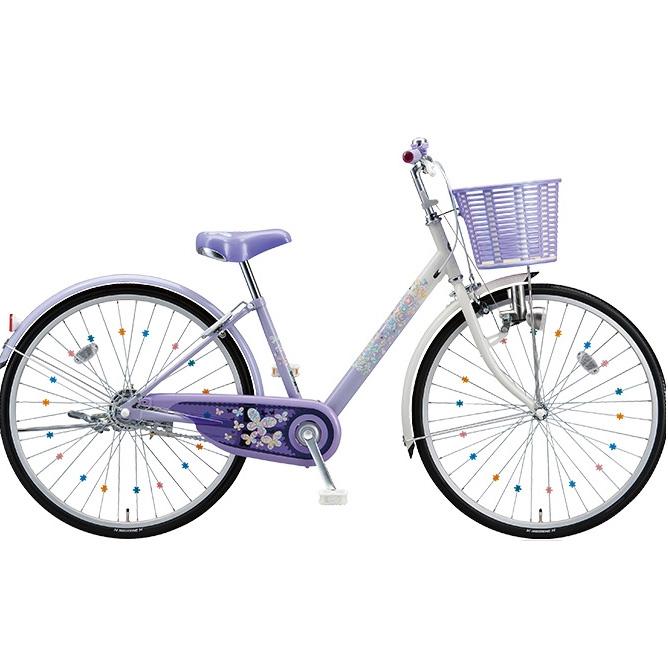 【防犯登録サービス中】ブリヂストン 子供用自転車 エコパル EP00 ラベンダー 20インチ 【2018年モデル】【完全組立済自転車】
