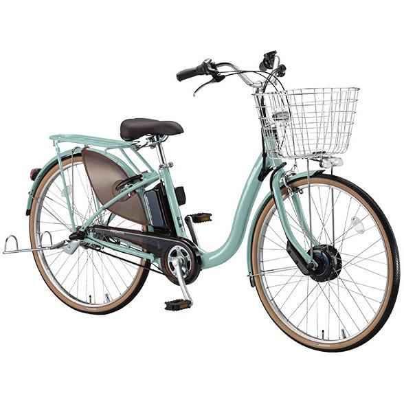 【送料無料】 ブリヂストン フロンティアDX F6DB38 E.Xグレッシュミント 26インチ 電動自転車【2018年モデル】【完全組立済自転車】 【北海道、九州、沖縄、離島は送料別】