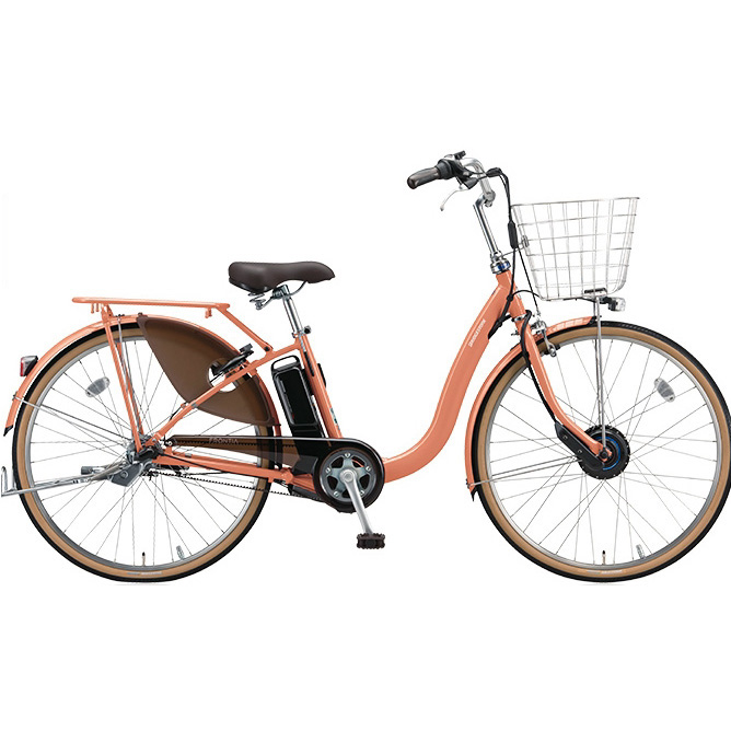 【送料無料】 ブリヂストン フロンティアDX F6DB38 E.Xサニーピンク 26インチ 電動自転車【2018年モデル】【完全組立済自転車】 【北海道、九州、沖縄、離島は送料別】