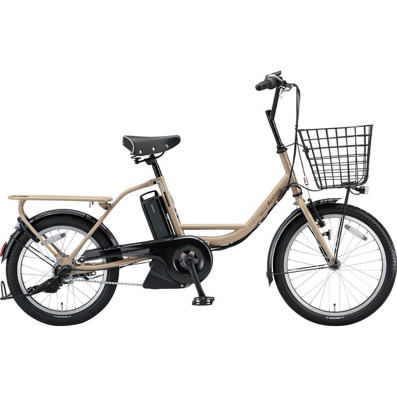 ブリヂストン 電動自転車 アシスタファインミニ A0BC18 T.Xサンドベージュ 【2019年モデル】【完全組立済自転車】