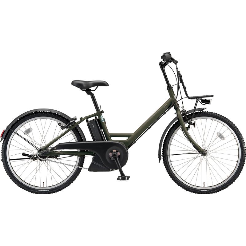 ブリヂストン 電動自転車 アシスタ ユニ A4UC38 T.XHカーキ 【2019年モデル】【完全組立済自転車】