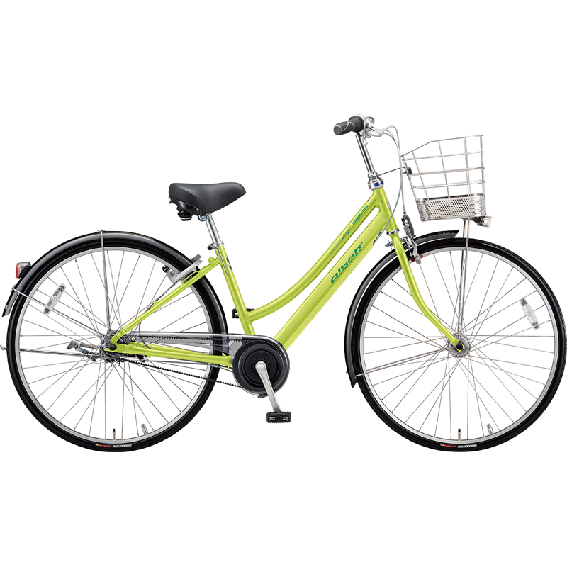 【防犯登録サービス中】ブリヂストン シティサイクル自転車 アルベルトロイヤル A75LR T.ネオンライム 【2019年モデル】【完全組立済自転車】
