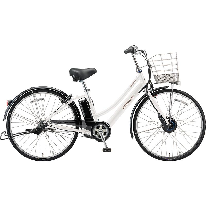 【防犯登録サービス中】ブリヂストン 電動自転車 アルベルトe AL6B49 P.Xシャンパンホワイト 【2019年モデル】【完全組立済自転車】