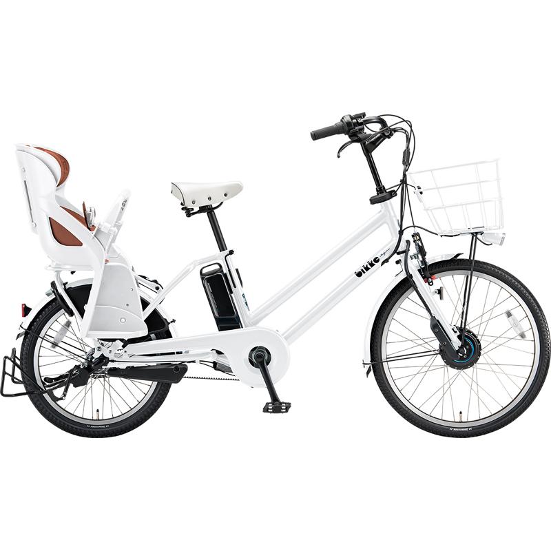 【防犯登録サービス中】ブリヂストン 電動自転車 ビッケグリdd BG0B49 E.XBKホワイト 【2019年モデル】【完全組立済自転車】