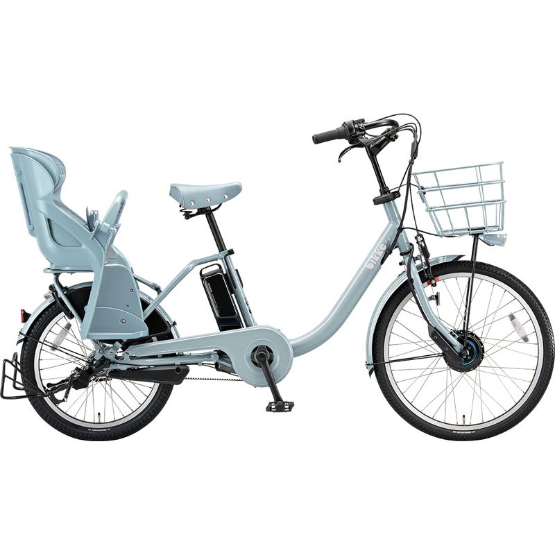 【防犯登録サービス中】ブリヂストン 電動自転車 ビッケモブdd BM0B49 E.XBKブルーグレー 【2019年モデル】【完全組立済自転車】