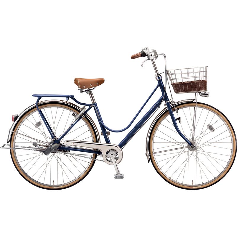 【防犯登録サービス中】ブリヂストン シティサイクル自転車 カジュナベーシックライン(チェーン) CB63T E.Xアメリカンブルー 【2019年モデル】【完全組立済自転車】