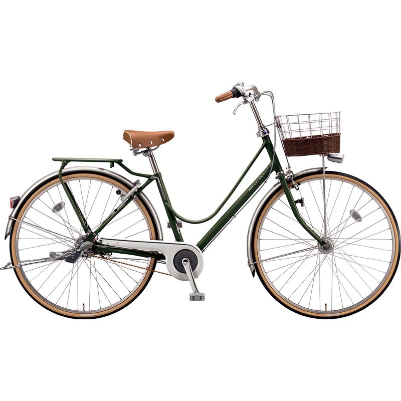 【防犯登録サービス中】ブリヂストン シティサイクル自転車 カジュナベーシックライン(チェーン) CB63T E.Xダークオリーブ 【2019年モデル】【完全組立済自転車】