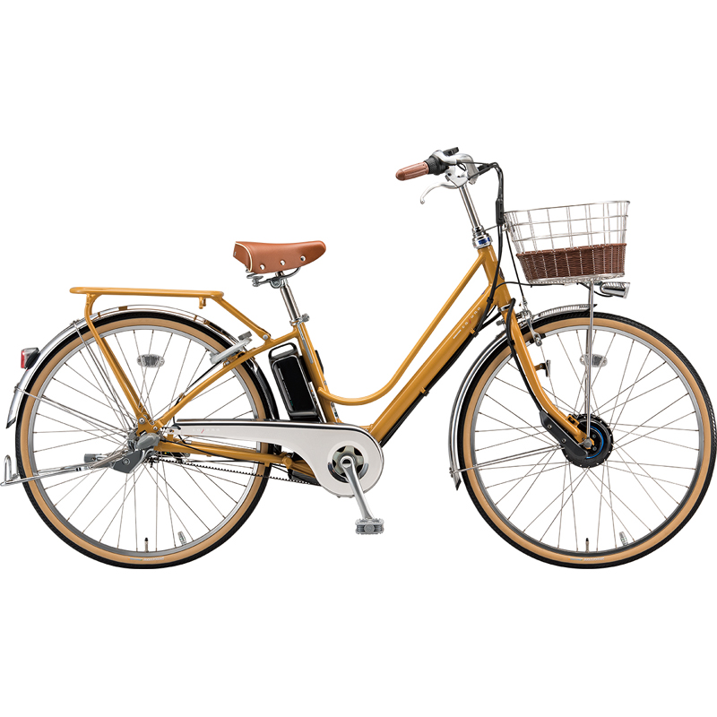 【防犯登録サービス中】ブリヂストン 電動自転車 カジュナe CB6B49 E.Xキャラメルブラウン 【2019年モデル】【完全組立済自転車】