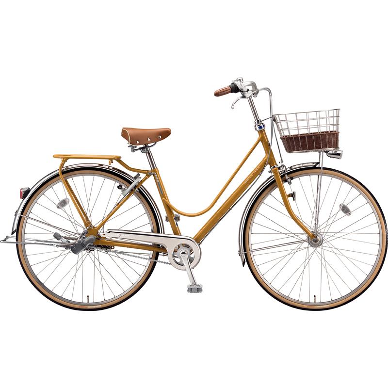 【防犯登録サービス中】ブリヂストン シティサイクル自転車 カジュナベーシックライン(チェーン) CB7TP E.Xキャラメルブラウン 【2019年モデル】【完全組立済自転車】