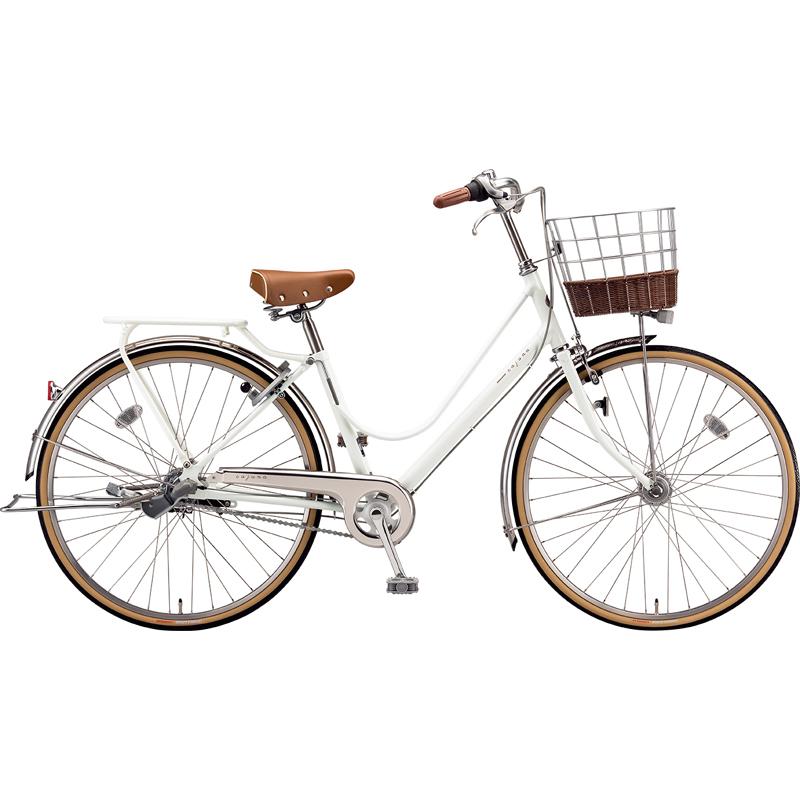 ブリヂストン シティサイクル自転車 カジュナベーシックライン CB7TP E.XBKホワイト 【2019年モデル】【完全組立済自転車】