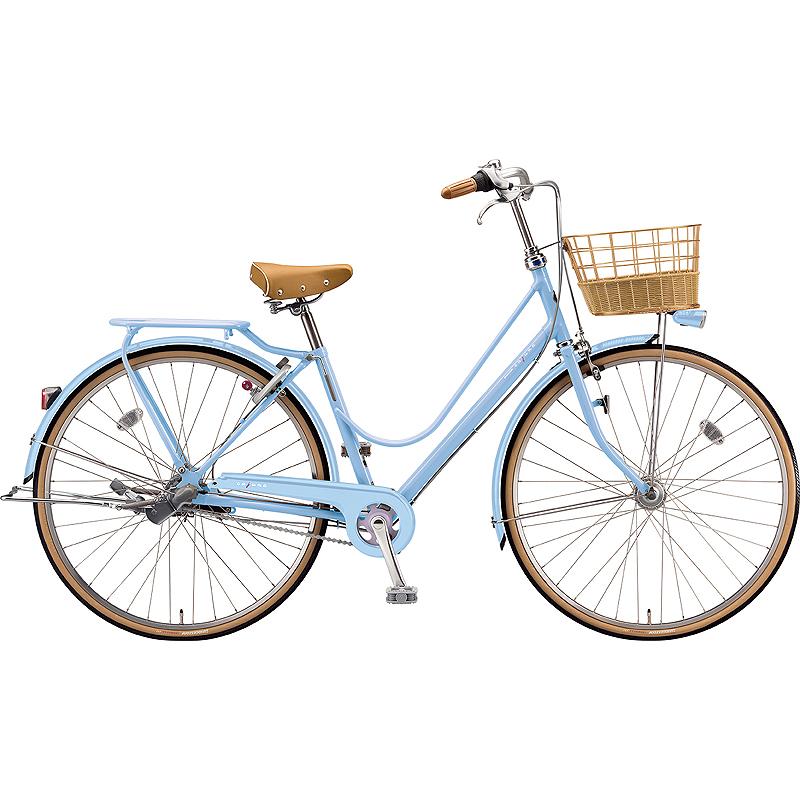 【防犯登録サービス中】ブリヂストン シティサイクル自転車 カジュナスイートライン(チェーン) CS6TP E.Xカームブルー 【2019年モデル】【完全組立済自転車】