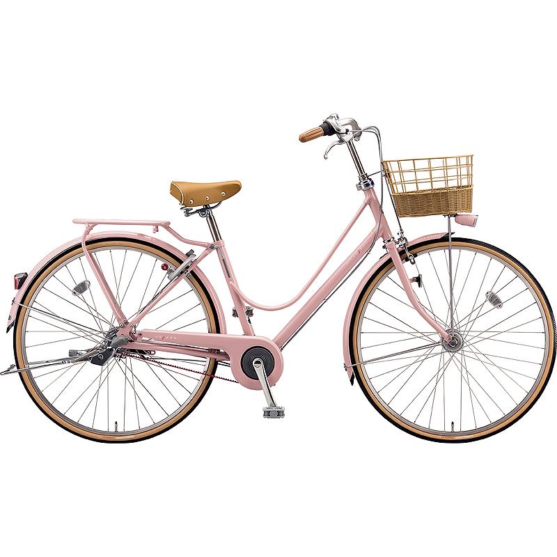 【防犯登録サービス中】ブリヂストン シティサイクル自転車 カジュナスイートライン(チェーン) CS7TP E.Xサンドピンク 【2019年モデル】【完全組立済自転車】