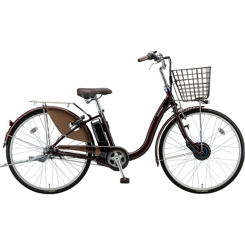 【防犯登録サービス中】ブリヂストン 電動自転車 フロンティア F4AB29 F.Xカラメルブラウン 【2019年モデル】【完全組立済自転車】