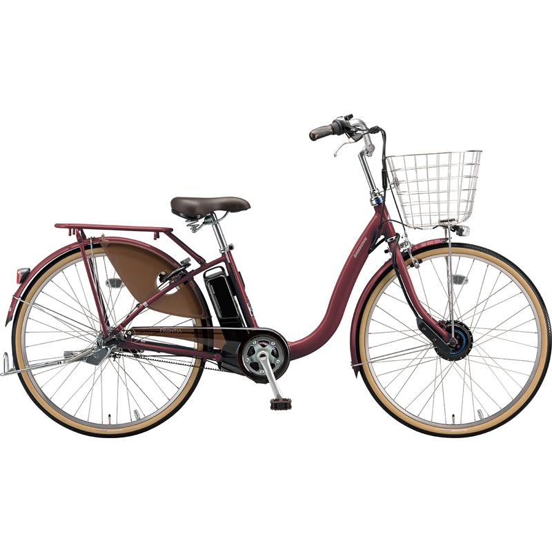 【防犯登録サービス中】ブリヂストン 電動自転車 フロンティアDX F4DB49 F.Xベルベットローズ 【2019年モデル】【完全組立済自転車】