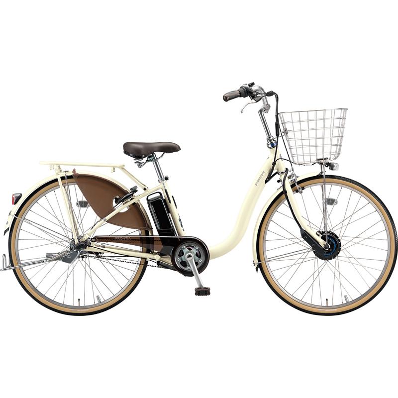 【防犯登録サービス中】ブリヂストン 電動自転車 フロンティアDX F4DB49 E.Xクリームアイボリー 【2019年モデル】【完全組立済自転車】