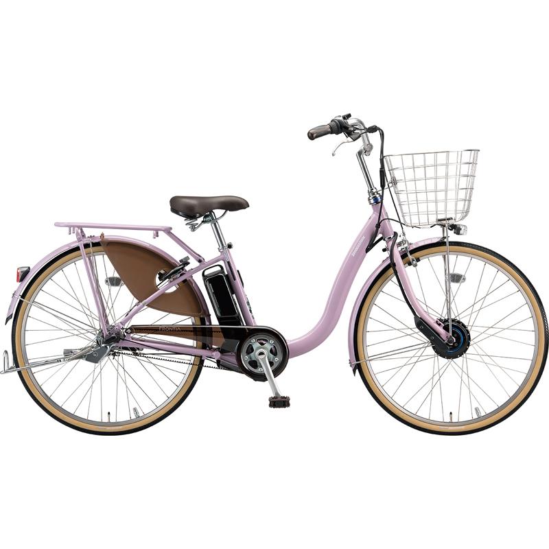 【防犯登録サービス中】ブリヂストン 電動自転車 フロンティアDX F4DB49 E.Xグレッシュピンク 【2019年モデル】【完全組立済自転車】
