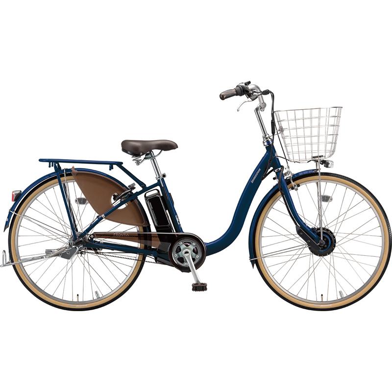 【防犯登録サービス中】ブリヂストン 電動自転車 フロンティアDX F4DB49 E.Xノーブルネイビー 【2019年モデル】【完全組立済自転車】