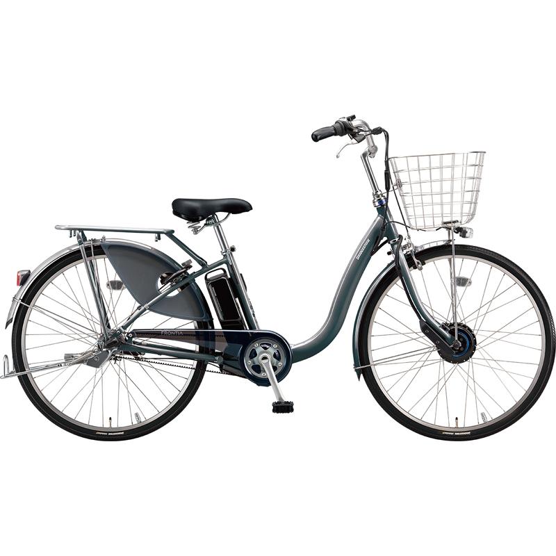 【防犯登録サービス中】ブリヂストン 電動自転車 フロンティアDX F4DB49 M.XHスパークルシルバー 【2019年モデル】【完全組立済自転車】