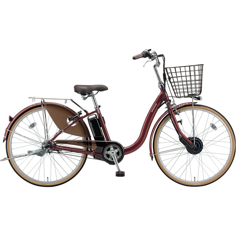 【防犯登録サービス中】ブリヂストン 電動自転車 フロンティア F6AB29 F.Xベルベットローズ 【2019年モデル】【完全組立済自転車】