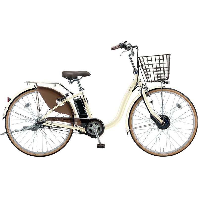 【防犯登録サービス中】ブリヂストン 電動自転車 フロンティア F6AB29 E.Xクリームアイボリー 【2019年モデル】【完全組立済自転車】