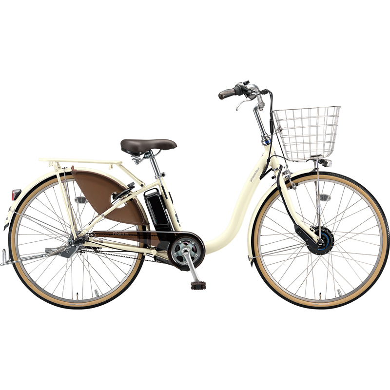 【防犯登録サービス中】ブリヂストン 電動自転車 フロンティアDX F6DB49 E.Xクリームアイボリー 【2019年モデル】【完全組立済自転車】