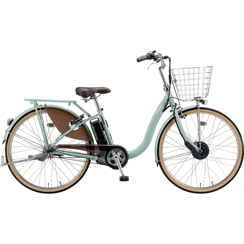 【防犯登録サービス中】ブリヂストン 電動自転車 フロンティアDX F6DB49 E.Xグレッシュミント 【2019年モデル】【完全組立済自転車】
