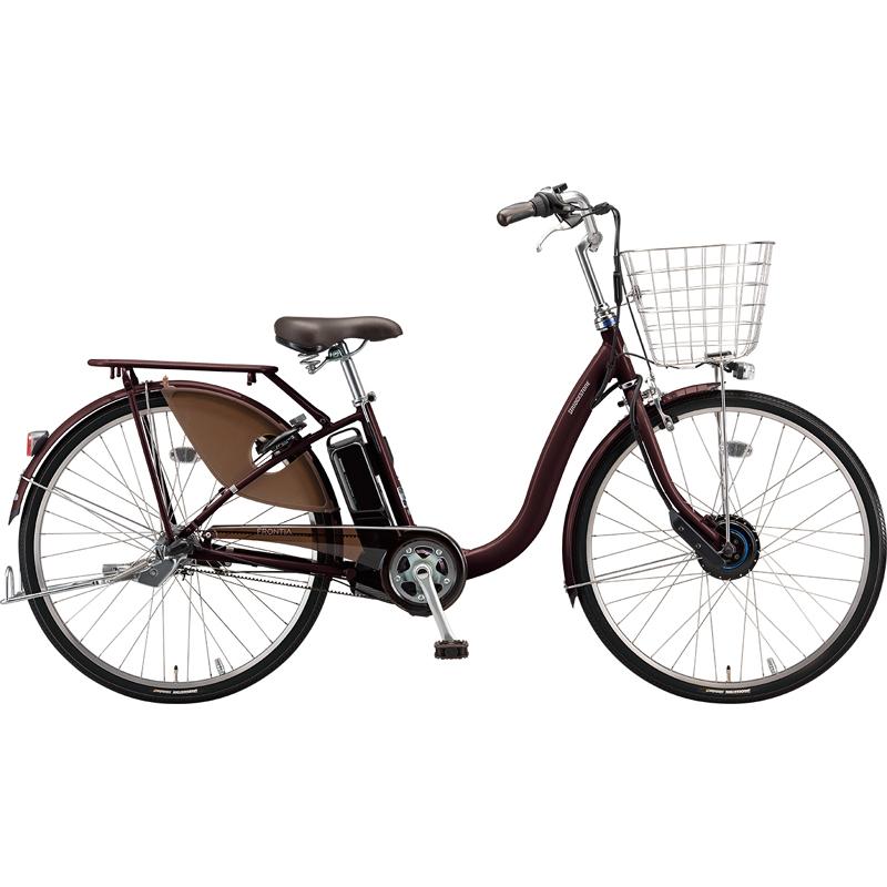 【防犯登録サービス中】ブリヂストン 電動自転車 フロンティアDX F6DB49 F.Xカラメルブラウン 【2019年モデル】【完全組立済自転車】