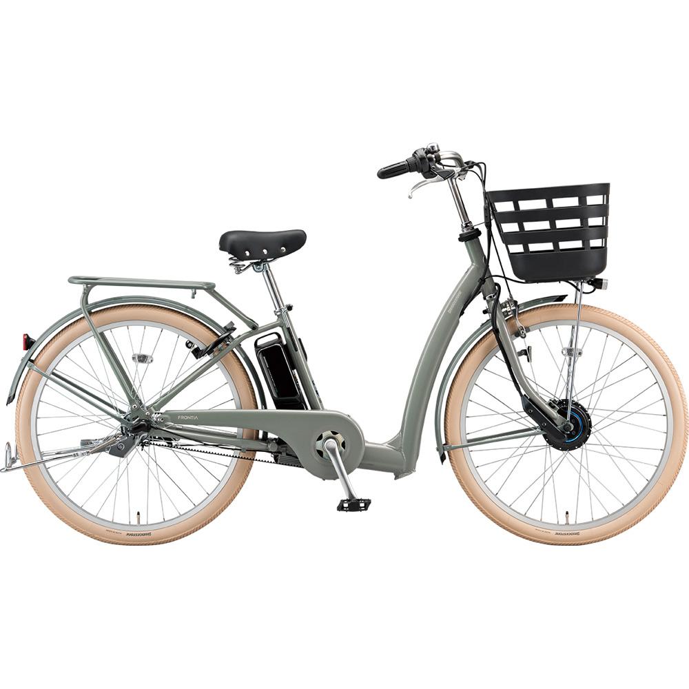 ブリヂストン 電動アシスト自転車 フロンティア リラクシー FC6B49 M.Xソフトカーキ 【2019年モデル】【完全組立済自転車】
