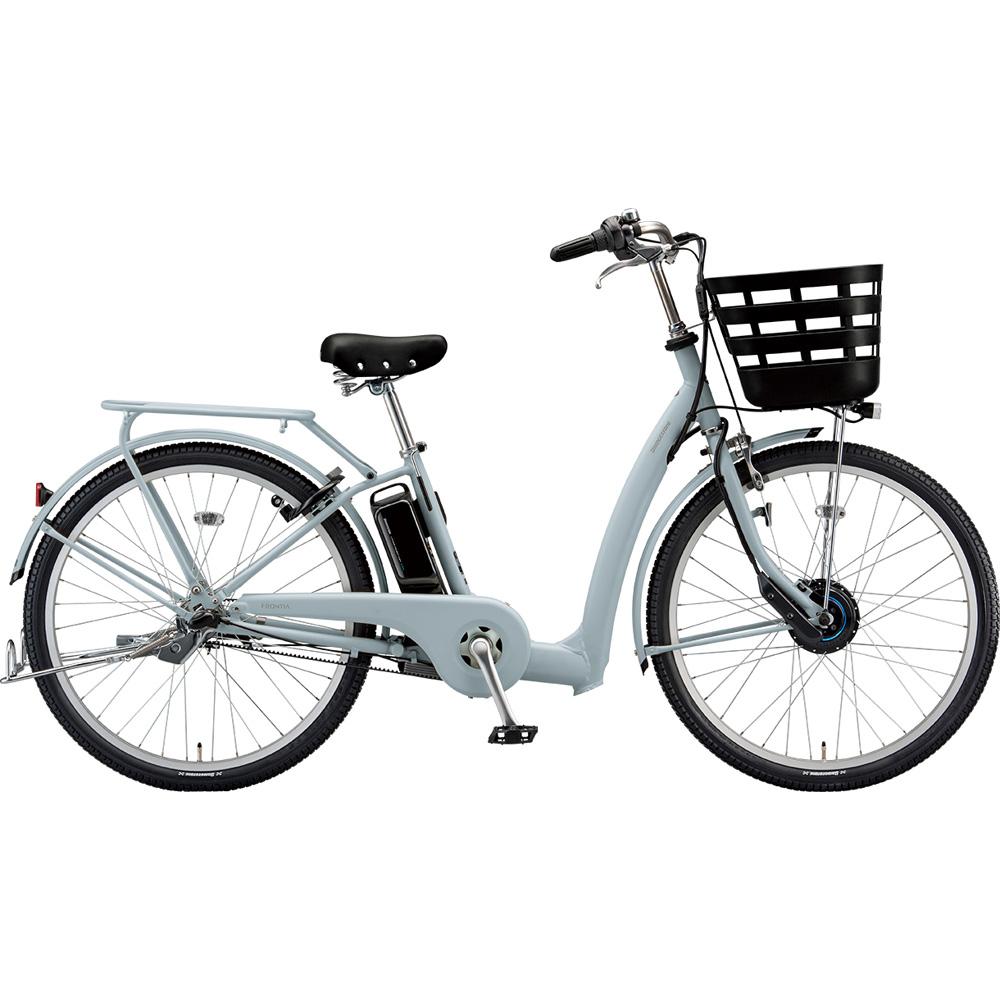 ブリヂストン 電動アシスト自転車 フロンティア リラクシー FR6B49 EXBKブルーグレー 【2019年モデル】【完全組立済自転車】