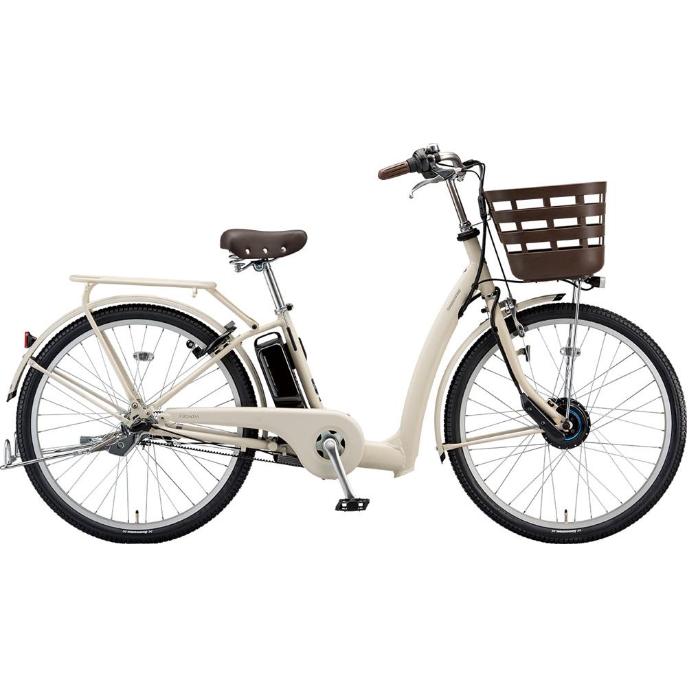 ブリヂストン 電動アシスト自転車 フロンティア リラクシー FR6B49 T.XHアイボリー 【2019年モデル】【完全組立済自転車】