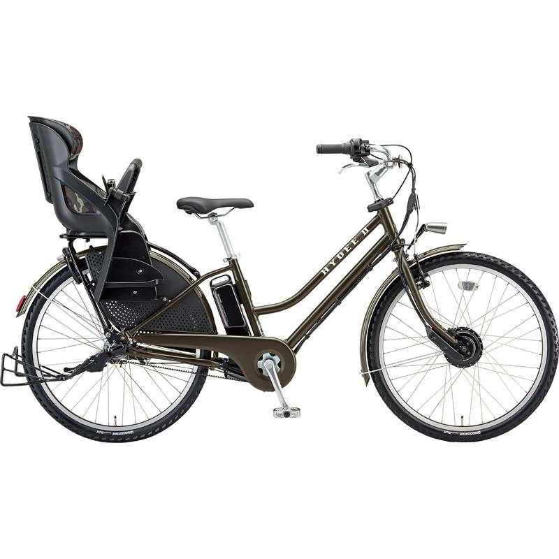 【防犯登録サービス中】ブリヂストン 電動自転車 ハイディツー HY6B49 T.XHカーキ 【2019年モデル】【完全組立済自転車】