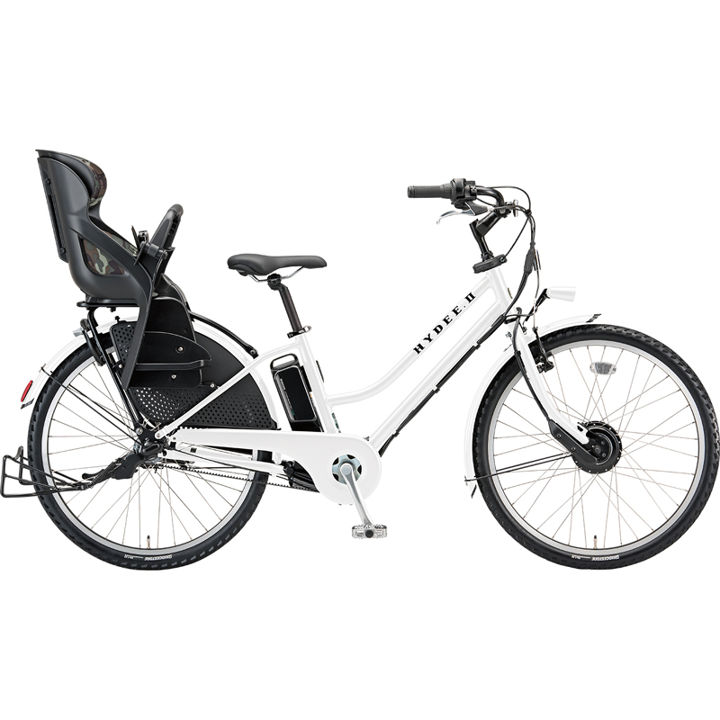 【防犯登録サービス中】ブリヂストン 電動自転車 ハイディツー HY6B49 E.Xホワイト 【2019年モデル】【完全組立済自転車】