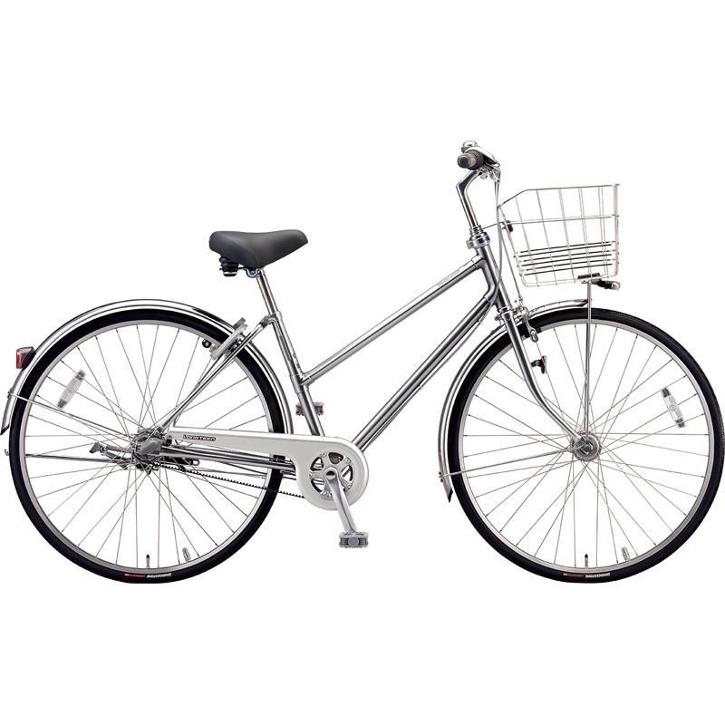 【防犯登録サービス中】ブリヂストン シティサイクル自転車 ロングティーンベルト LT63SB M.XHスパークルシルバー 【2019年モデル】【完全組立済自転車】