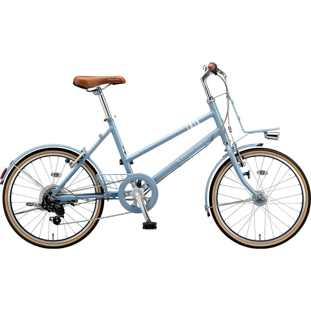 ブリヂストン ミニベロ マークローザ MRK07T TXマットブルーグレー 【2019年モデル】【完全組立済自転車】