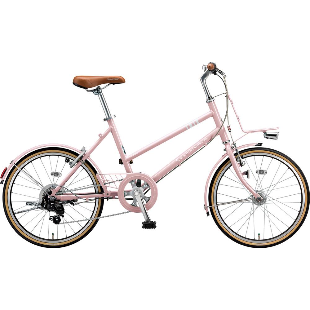 ブリヂストン ミニベロ マークローザ MRK07T EXサンドピンク 【2019年モデル】【完全組立済自転車】