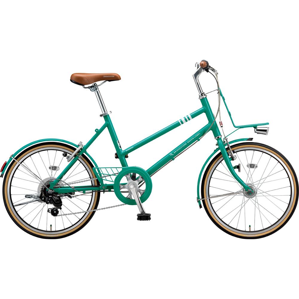 ブリヂストン ミニベロ マークローザ MRK07T EXコバルトグリーン 【2019年モデル】【完全組立済自転車】