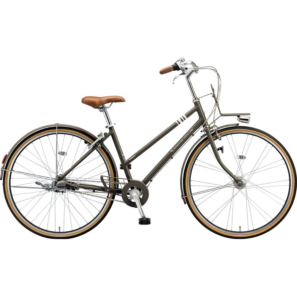 ブリヂストン シティサイクル マークローザ MRK73T T.Xカーキ 【2019年モデル】【完全組立済自転車】