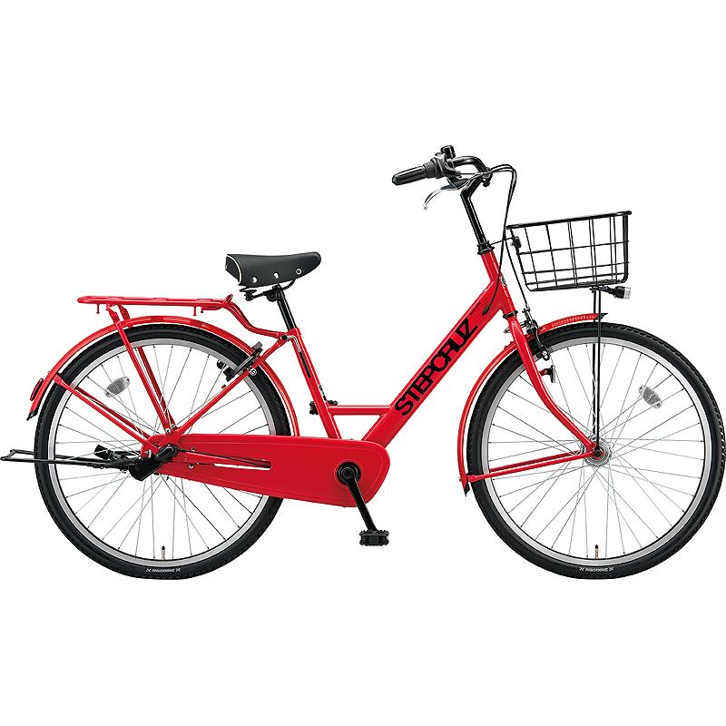 【防犯登録サービス中】ブリヂストン シティサイクル自転車 ステップクルーズ SC63T F.Xアクティブレッド 【2019年モデル】【完全組立済自転車】