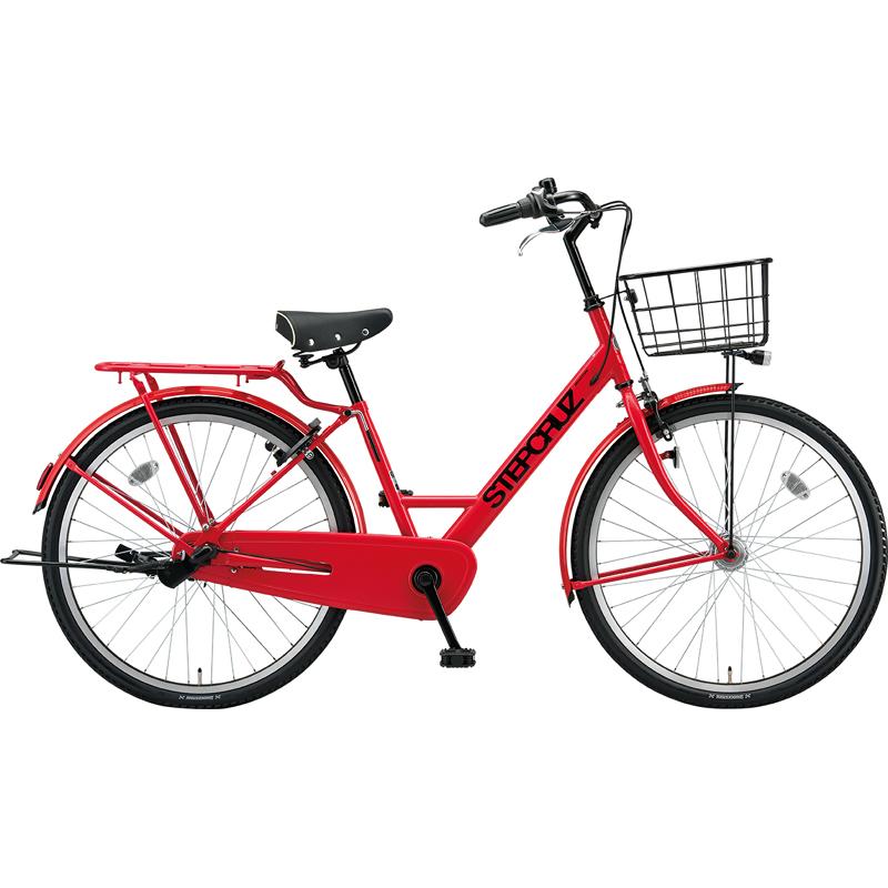 ブリヂストン シティサイクル自転車 ステップクルーズ SC73T F.Xアクティブレッド 【2019年モデル】【完全組立済自転車】