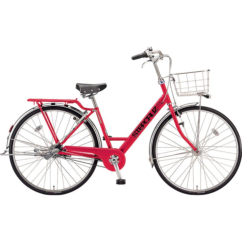 ブリヂストン シティサイクル自転車 ステップクルーズDX SC7BT F.Xアクティブレッド 【2019年モデル】【完全組立済自転車】