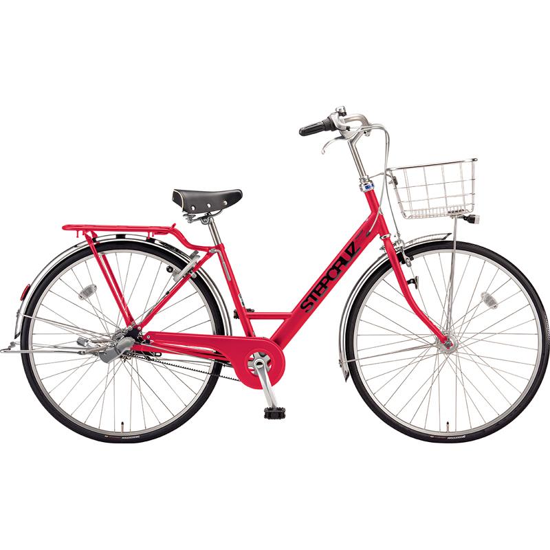 【防犯登録サービス中】ブリヂストン シティサイクル自転車 ステップクルーズDX SC7TP チェーン仕様 F.Xアクティブレッド 【2019年モデル】【完全組立済自転車】