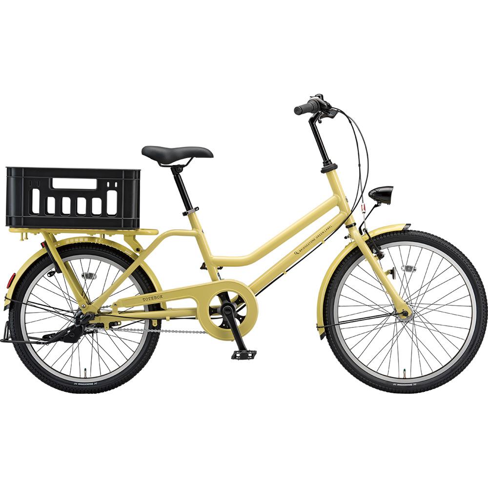 ブリヂストン シティサイクル トートBOX TTB43T E.Xヴィンテージイエロー 【2019年モデル】【完全組立済自転車】