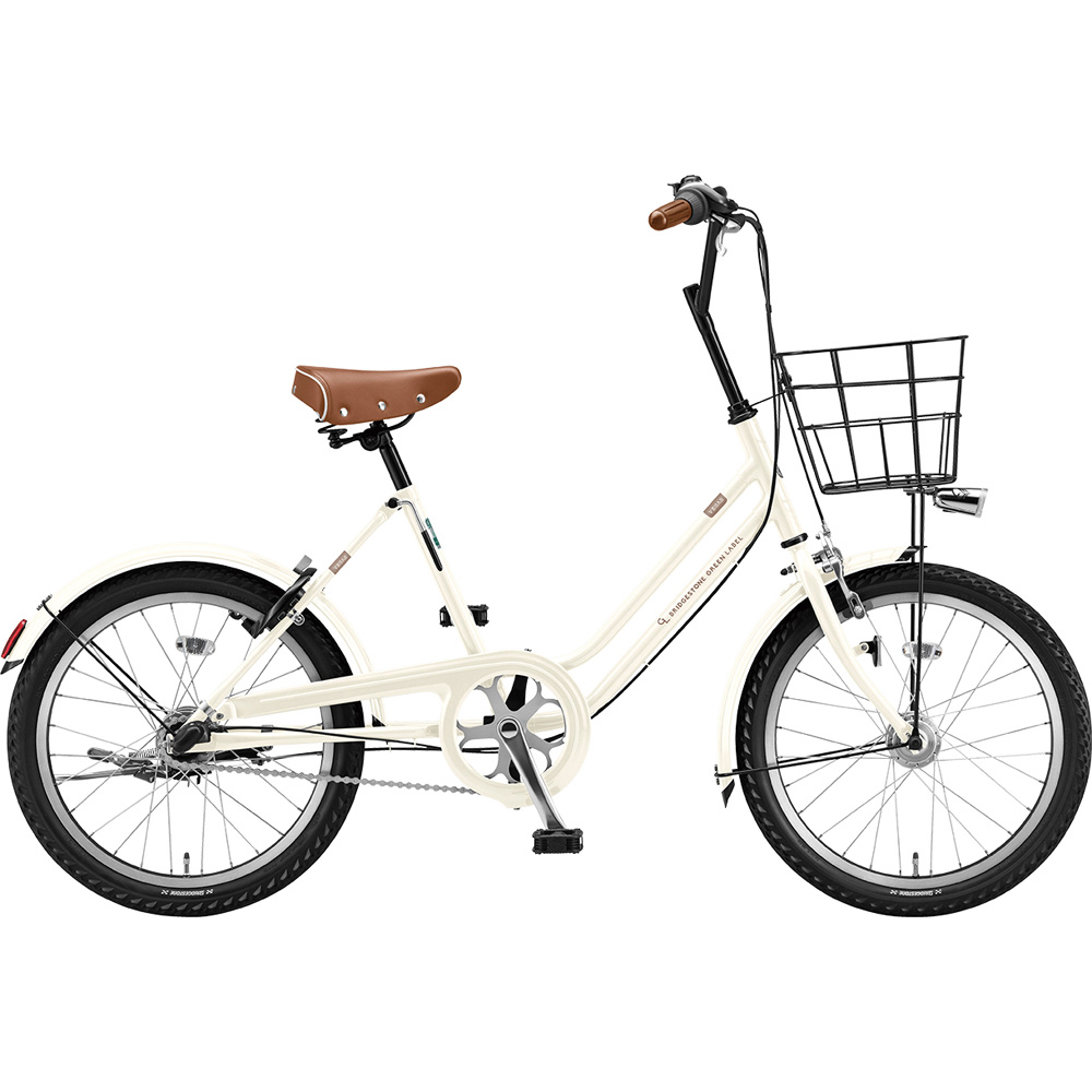 ブリヂストン ミニベロ ベガス VEG03T EXクリームアイボリー 【2019年モデル】【完全組立済自転車】