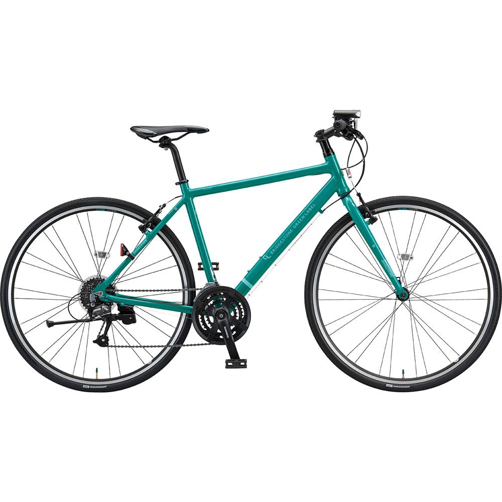 ブリヂストン クロスバイク シルヴァ YF2439 EXコバルトグリーン 390mm 【2019年モデル】【完全組立済自転車】