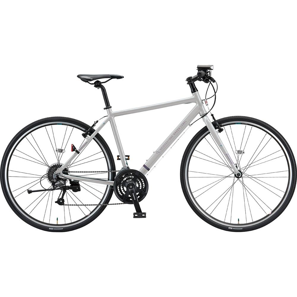 【年明けのお届け予定となります】 【キャッシュレス5%還元対象店】ブリヂストン クロスバイク シルヴァ YF2444 EXアーバングレー 440mm 【2019年モデル】【完全組立済自転車】