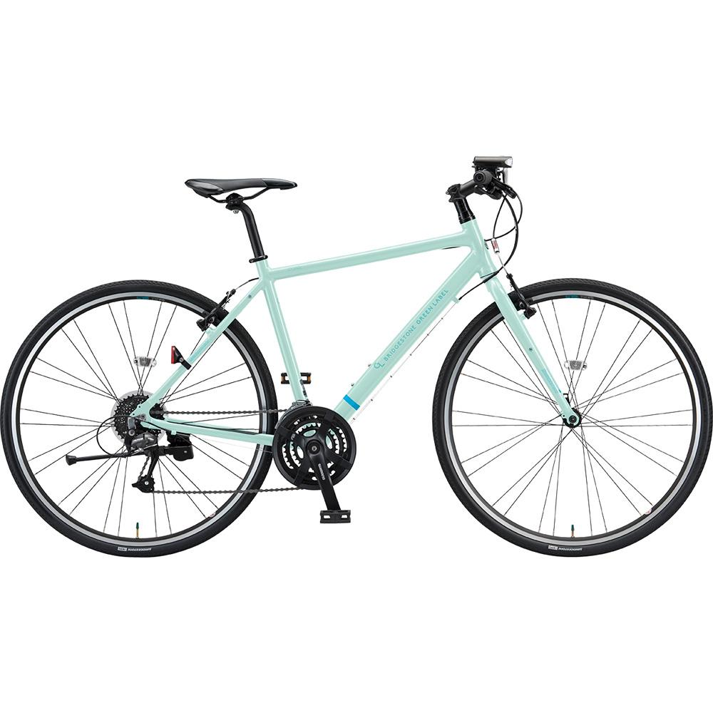【年明けのお届け予定となります】 【キャッシュレス5%還元対象店】ブリヂストン クロスバイク シルヴァ YF2444 EXミストグリーン 440mm 【2019年モデル】【完全組立済自転車】