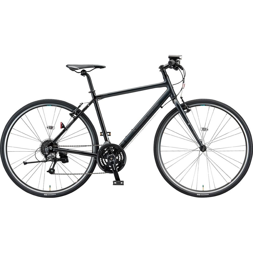【年明けのお届け予定となります】 【キャッシュレス5%還元対象店】ブリヂストン クロスバイク シルヴァ YF2454 マットグロスブラック 540mm 【2019年モデル】【完全組立済自転車】