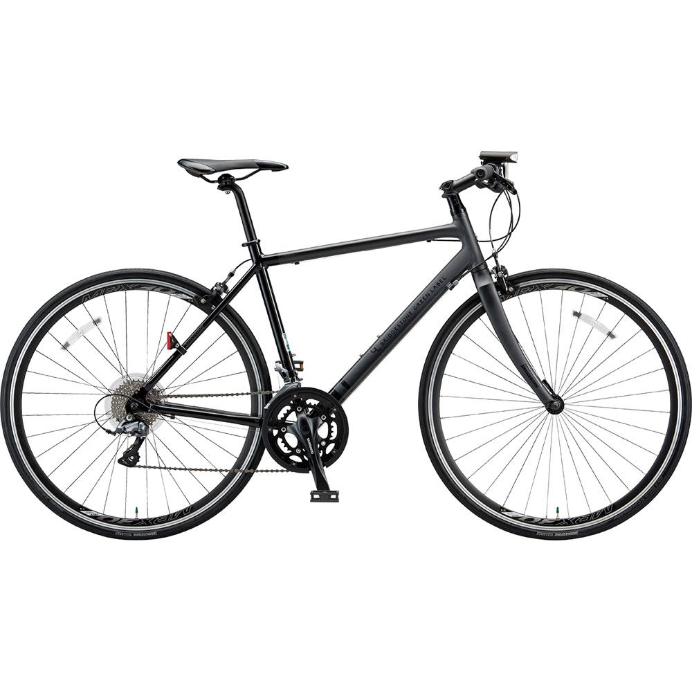 ブリヂストン クロスバイク シルヴァ YR1644 マット&グロスブラック 440mm 【2019年モデル】【完全組立済自転車】