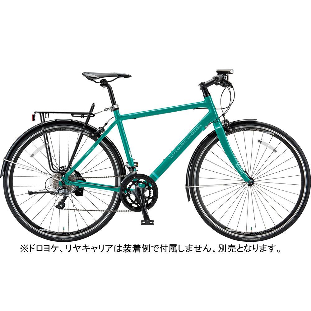 ブリヂストン クロスバイク シルヴァ YR1649 EXコバルトグリーン 490mm 【2019年モデル】【完全組立済自転車】